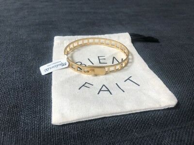 Madewell Tracecraft Bangle Bracelet Yellow Gold Nwt