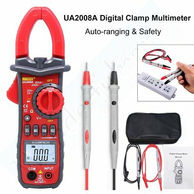 UA2008A Auto Handheld Digital Clamp MultiMeter Tester AC&DC Voltage LCD Display