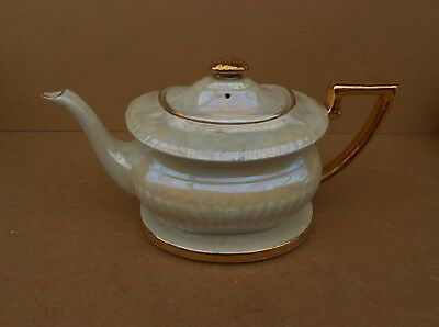Large Vintage China Teapot With Stand