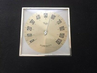 "Vintage Taylor HUMIDITY Desktop Or Wall Mounting 3.5"" X 3.5"" Gauge"