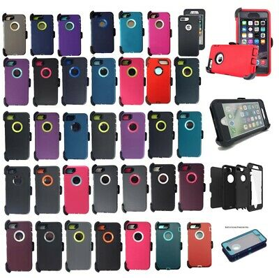 For iPhone X XR 7 Plus & iPhone 8 6  Defender Case Cover w/ (Clip fits Otterbox)
