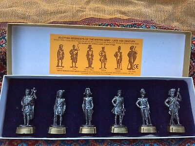 Small Metal Soldiers, Scottish regiments of  British army, late 19th c military