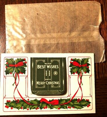 Early 1900's $5 Gold Coin Christmas VAULT Holder & Envelope - RARE - No Coin!