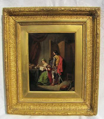 Antique English Victorian Oil on Canvas Painting Circa 1880 Frederick Parker
