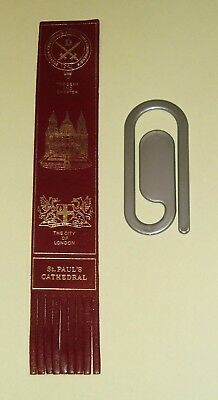 VINTAGE BOOKMARKS x 2 St PAUL'S CATHEDRAL & SILVER PLASTIC PAPERCLIP DESIGN