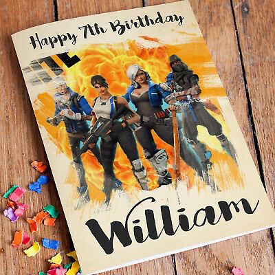 FORTNITE Personalised Birthday Card FREE Shipping