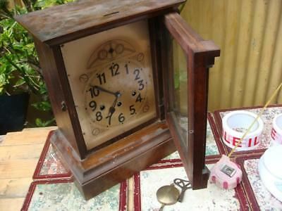 Antique Old Junghans   Westminster Chimes Mantle Clock for Spare or  Repair