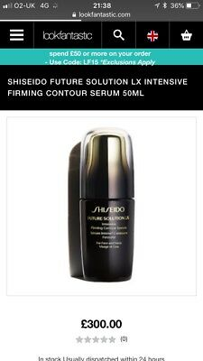 New Shiseido Future Solutions LX Intensive Firming Contour Serum  Rrp £300!