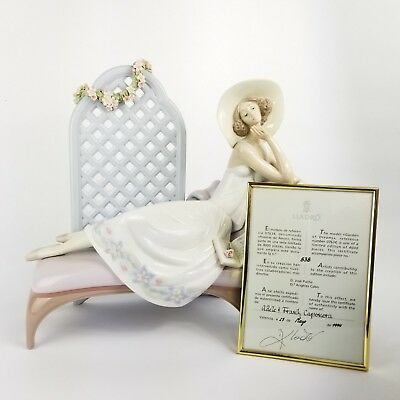 Signed Lladro Garden of Dreams Porcelain Figurine #7634 with Box and COA