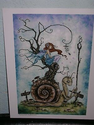 Amy Brown - The Great Snail - SIGNED - OUT OF PRINT