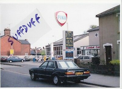 FINA petrol oil BRAMFORD ROAD Garage IPSWICH - 1980's A4 photo - station pump