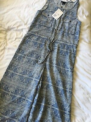 Monki Printed Jumpsuit Size XS 8