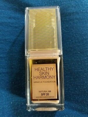 NEW Max Factor Healthy Skin Harmony Miracle Foundation SPF20 50 Natural 30ml