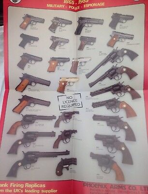 Vintage Gun Poster Double Sided Police Military Old West