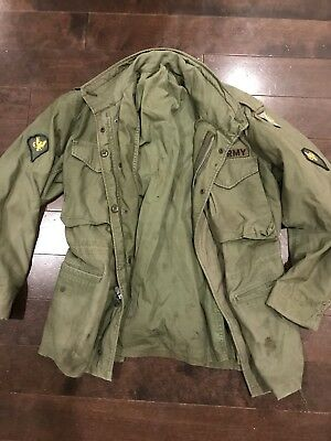 Great Condition US Army Viet Nam M-65 Field Jacket With Patches