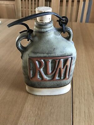 Tremar Rum Flask Studio Pottery Good Condition