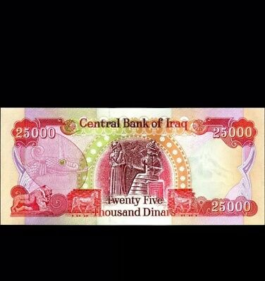 25,000 Iraqi Dinar Banknote (Iqd) - Uncirculated - Authentic - Mint Condition!!!