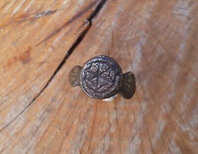 Superb Early Medieval Anglo Saxon Richly Decorated Ring-British Detecting Find