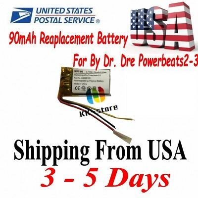 3 Wireless 90mAh Battery Replacement Repair Part For Beats By Dre PowerBeats 2 3