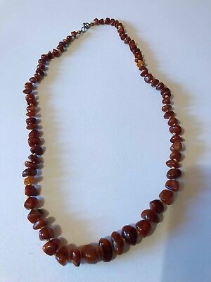 Vintage  Real Baltick Amber Necklace - 31 Grams 23 Inches