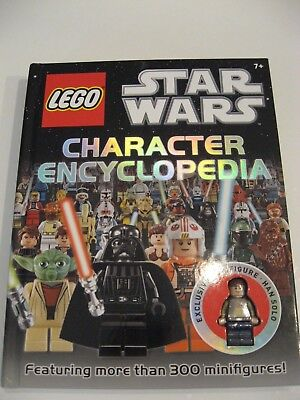 Lego Star Wars Hardback Character Encyclopedia With Han Solo Minifigure