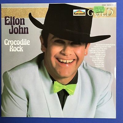 "ELTON JOHN Crocodile Rock (Germany) Vinyl LP 12"" LIKE NEW"