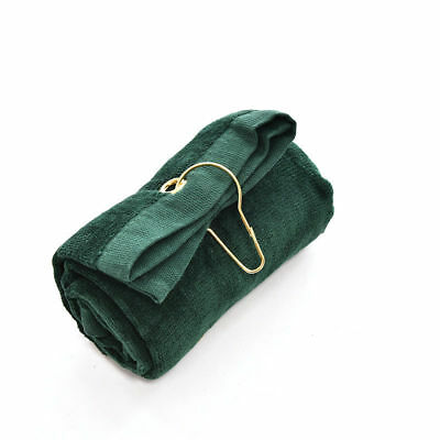 QUALITY TRI-FOLD GOLF TOWEL WITH BAG CLIP 100% COTTON 60x40cm UK STOCK