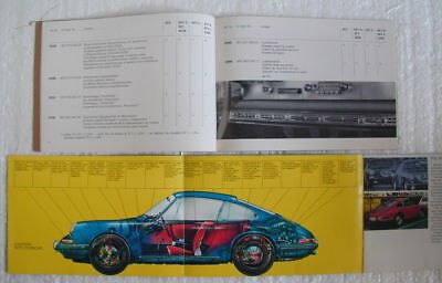 Vintage 1967 Porsche Fact Book and Accessories Manual Sales Brochure 911 912