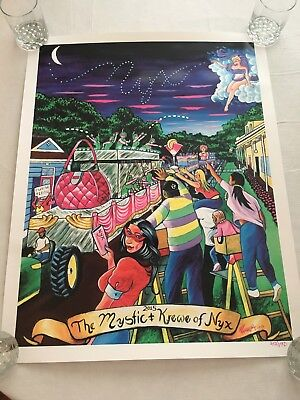 Mystic Krewe of Nyx poster 2015 New Orleans Mardi Gras RARE