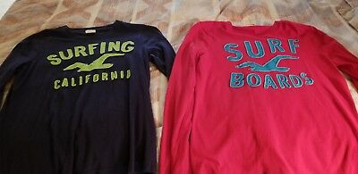 Mens hollister (set of 2) shirts size small