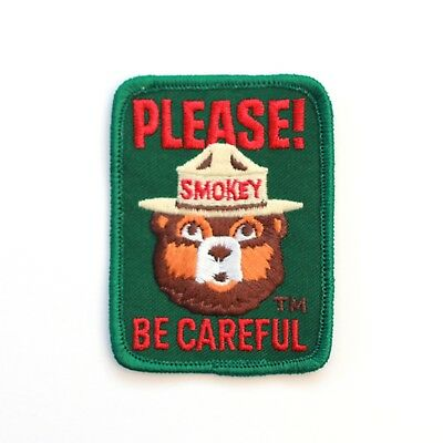 Official Smokey Bear Souvenir Patch Please Be Careful US Forest Service Smoky
