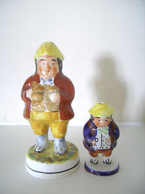 Staffordshire Toby Salt Pepper Pot Cellar Shaker x2