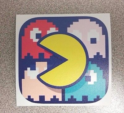 Pac Man & Ghosts sticker. 3 x 3. (Buy any 3 of my stickers, GET ONE FREE!)