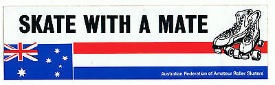 Rare Vintage Collectable Bumper Sticker Decal - Skate with a Mate