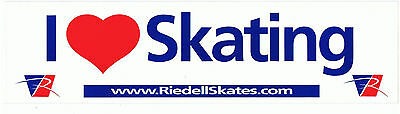 I Heart Skating - Rare Vintage Collectable Bumper Sticker Decal Reidell Skates