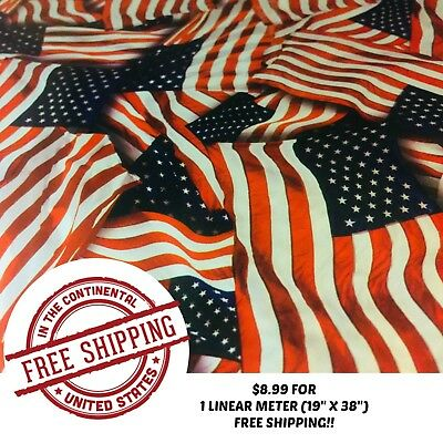 """Hydrographic Water Transfer Hydro Dipping Dip Film American Pride 1M (19""""x38"""")"""