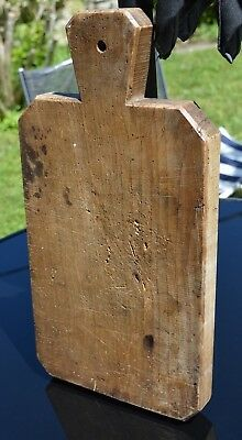 French Vintage Very Large Chopping Board Rustic Solid Hardwood