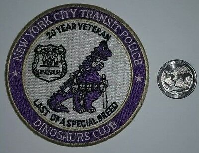 New York City Transit Police Patch - Dinosaurs Club  NYC NY NYPD