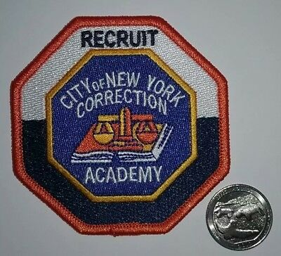 New York City Corrections Academy Recruit Patch NY NYC NYCD NYPD