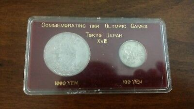 1964 Japan OLYMPIC GAMES Commemorative Silver Coins - 2 silver coins
