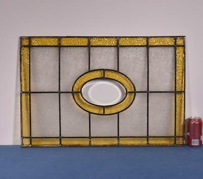 *Antique French Stained Glass Panel with Yellow Glass