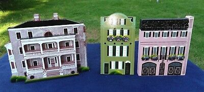 3 Shelia's Collectibles Charleston SC Wooden Houses: 2 Rainbow Row, J Manigault