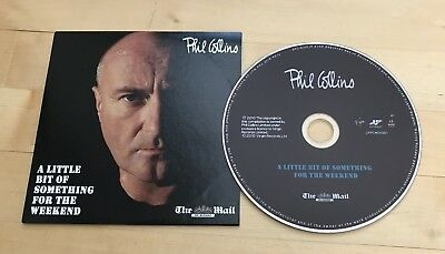 """PHIL COLLINS """"Something for the Weekend"""" MUSIC PROMO CD 2010 Daily Mail GENESIS"""