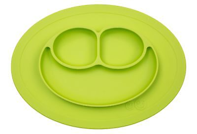 ezpz Mini Mat - One-piece silicone placemat + plate Lime One Size FAST SHIP