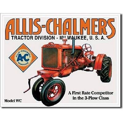 Allis Chalmers Model WC Tractor Farm Equipment Plow Retro Vintage Metal Tin Sign