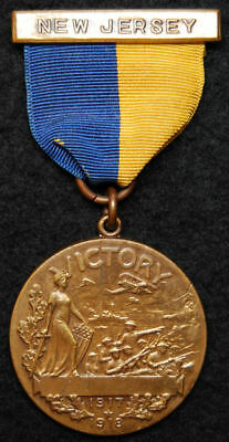 Original World War I (WWI) State of New Jersey Victory Medal