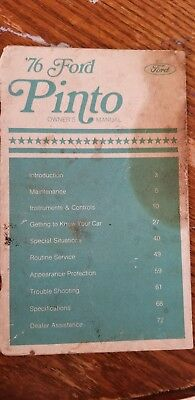 1976 Ford Pinto Owner's Manual
