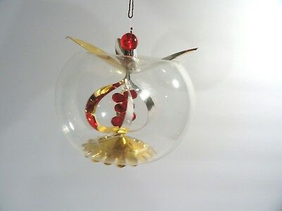 Italy Blown Glass Bead & Wire Christmas Ornament
