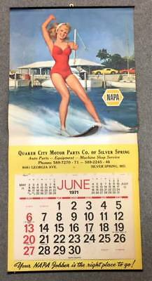 1971 NAPA Auto Parts Advertising Stylish Elvgren Pin-Up Calendar, NR