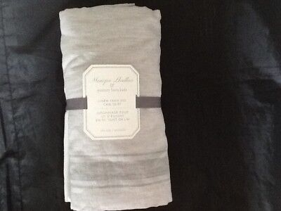 Pottery Barn Kids Monique Lhuillier Linen Yarn Dye Crib Skirt Gray New